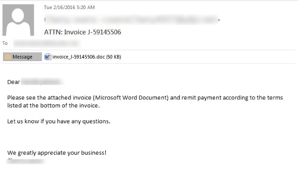 Phishing sa attachmentom invoice