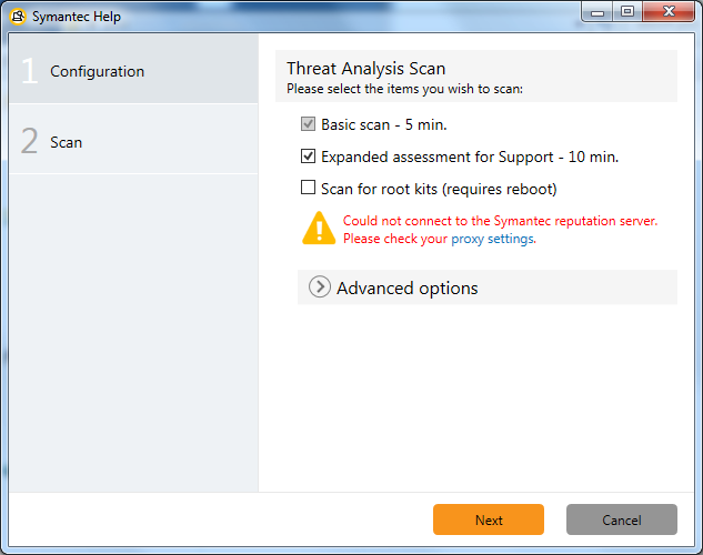 Threat Analysis Configuration offline