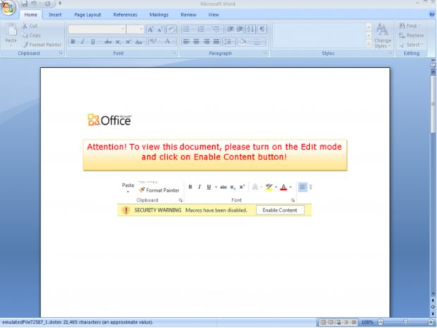 MS Office 365 Ransomware